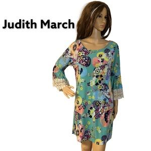 JUDITH MARCH BELL SLEEVE FLORAL DRESS